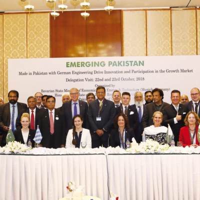 Bavarian Business Delegation to Pakistan, October 2018: German Pakistan Business Conference organised by the German Pakistan Chamber of Commerce & Industry (GPCCI) at Avari Towers Hotel, Khurshid Mahal Room, 22nd of October 2018