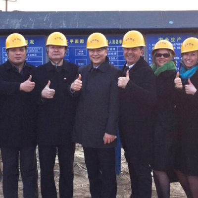Business Journey to China, March 2015: Visit to a large chinese construction site with Xiuli Ren, director of the office of the gaoyi district party committee
