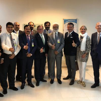 Bavarian Business Delegation to Pakistan, April 2019. Meeting Tahir Sikandar, Airport Manager, Lahore Airport, and his dedicated team. Business delegation with Umer Jamshed, Syed Ahmed Rauf, Aamir Ashraf, Anwer Zia, Qaiser Yas Khan, Nazir Ahmed Khan, Ahad Shair Awan, Azhar Farooq