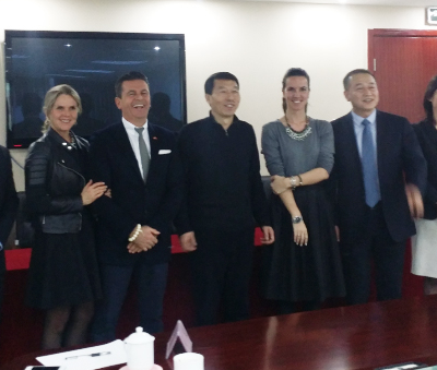 Business Journey to China, March 2015: Consul Dr. Poetis meeting with Zhongnong Pi's Chairman of Board Mister Wang in Beijing.